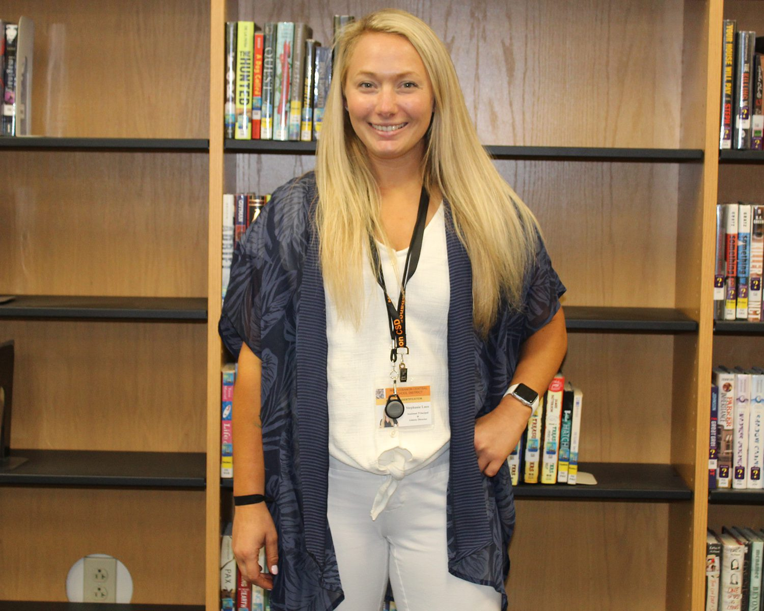 Assistant Principal/Athletic Director Stephanie Luce